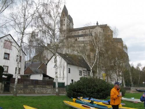 Pause an der Lubentiuskirche vor Limburg