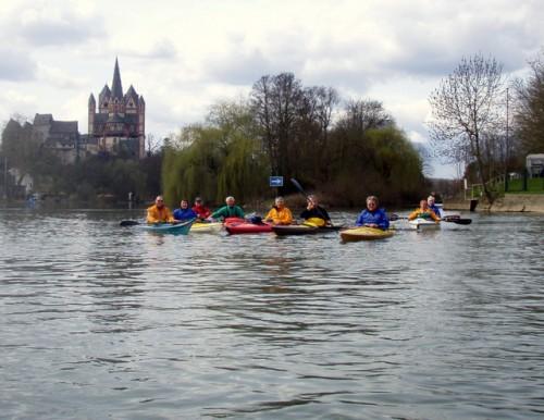 Limburg, Dom und Einfahrt in den Schleusenkanal