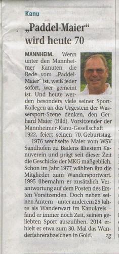 Artikel im Mannheimer Morgen am 27.09.2013
