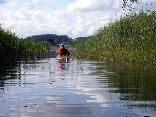 Durchfahrt von der Czarna Hancza in den Wigry Jezero